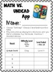 Math VS Undead App Accountability Sheets