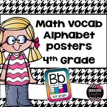 Math Vocabulary Alphabet 4th grade - watercolor design