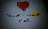 Math Valentine Vocabulary