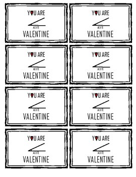 Math Valentine's Day Treat Cards (Acute Angles)