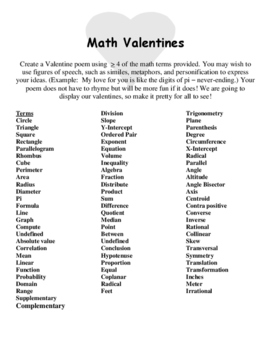 Math Valentines