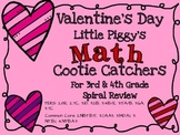 Math Valentine's Common Core Cootie Catcher for 3rd/4th