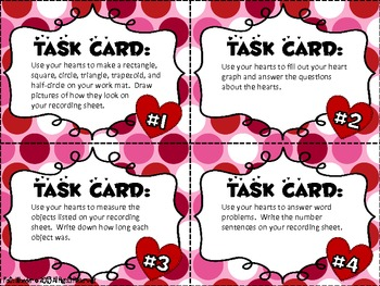 Valentine's Day Candy Heart Fun Task Cards