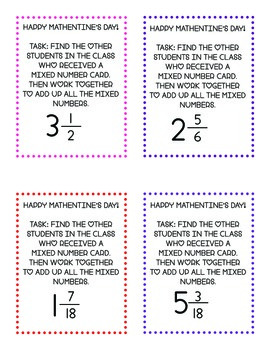 Math Valentine's Day FREEBIE: adding fractions, decimals, and more!