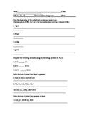 Math Virginia SOL 4.3 , 5.2 , 5.1 Decimals Class Assignment