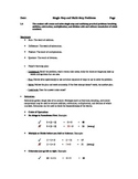 Math Virginia SOL 5.4 Multiple Step Word Problems Student Notes
