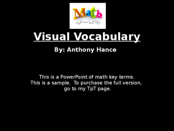 Math Visual Vocabulary