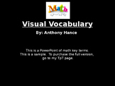 Math Visual Vocabulary
