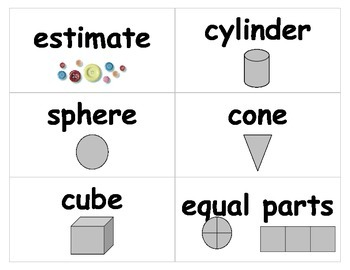 Math Visual Vocabulary Cards