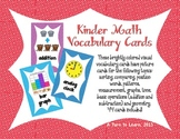Math Visual Vocabulary Cards for Kindergarten!