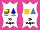 Math Visual Vocabulary Cards for Kindergarten!