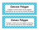 Math Voabulary Cards-Blue