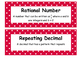 Math Voabulary Cards-Red