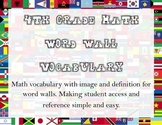 Math Vocab 4th Grade w/ Travel Theme