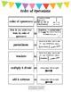 Math Vocab 5: Order of Operations, Area, Perimeter, & Volume