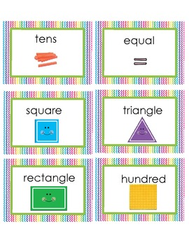 Math Vocab Cards