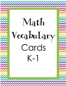 Math Vocab Cards