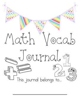 Math Vocab Journal