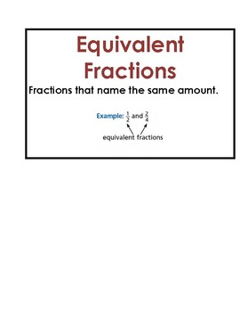 Math Vocab / Word Wall Words - Fractions - Unit 7 Math Expressions