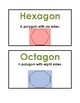 Math Vocab / Word Wall Words - Geometry - Math Expressions - Unit 6