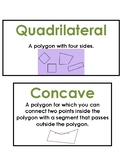 Math Vocab / Word Wall Words - Geometry - Math Expressions