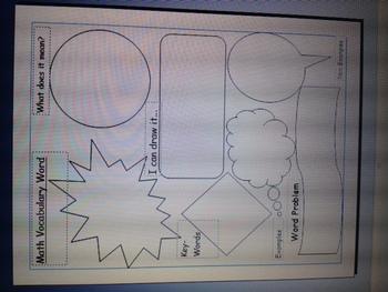 Math Vocab Worksheet~ Great for Interactive Math Notebooks