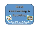 Math Vocab and Activities Grades 4 & 5