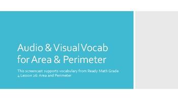 Math Vocab for Area and Perimeter: Audio & Visual