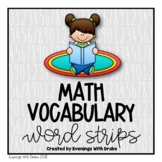 Math Vocabulary Strips