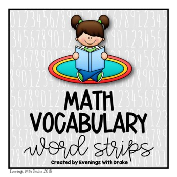 Math Vocabulary Strips
