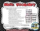 Math Vocabulary {1st Grade Printables}