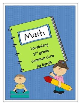 Math Vocabulary 2nd Grade Common Core