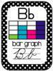 Math Vocabulary 3rd Grade Alphabet Zaner Bloser Cursive Black/White Polkadot