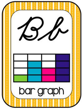 Math Vocabulary 3rd Grade Alphabet Zaner Bloser Cursive Grey/Teal/Yellow