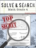 Math Vocabulary - 4th Grade Math Solve and Search