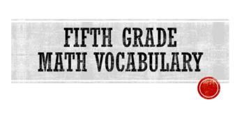 Math Vocabulary 5th Grade