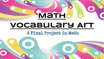 Math Vocabulary - A Final Art Project