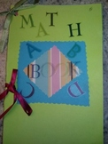 Math Vocabulary ABC Booklet; End of Year Activity