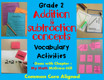 Addition and Subtraction Concepts Vocabulary Activities