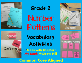 Number Patterns Vocabulary Activities