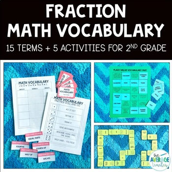 Math Vocabulary Activities for 2nd Grade - Fractions