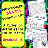 Math Vocabulary Activities for Newcomer Beginner Level ESL