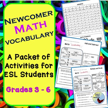 Math Vocabulary Activities for Newcomer Beginner Level ESL