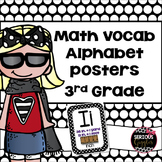 Math Vocabulary Alphabet 3rd Grade Polkadot