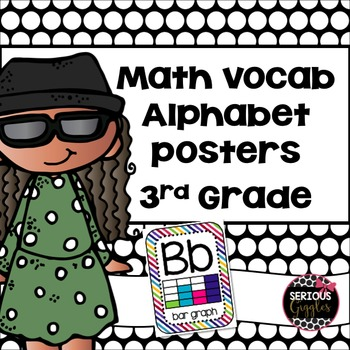 Math Vocabulary Alphabet 3rd Grade Rainbow Stripe