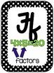 Math Vocabulary Alphabet Cursive 3rd Grade Black/White Polkadot