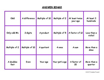 Math Vocabulary 4-in-a-Row Game: Great for Dyslexics!