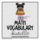 Math Vocabulary Bundle