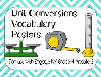 Math Vocabulary BUNDLE Grade 4 Engage NY Modules 1-6