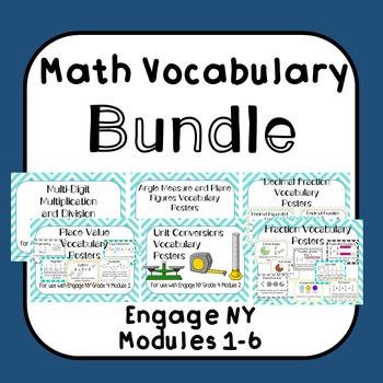 Math Vocabulary BUNDLE Grade 4 Engage NY Modules 1-6